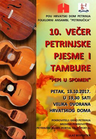 10. večer petrinjske pjesme i tambure