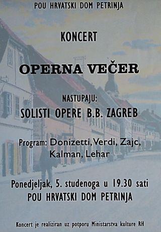 Operna večer solista Opere B.B. Zagreb