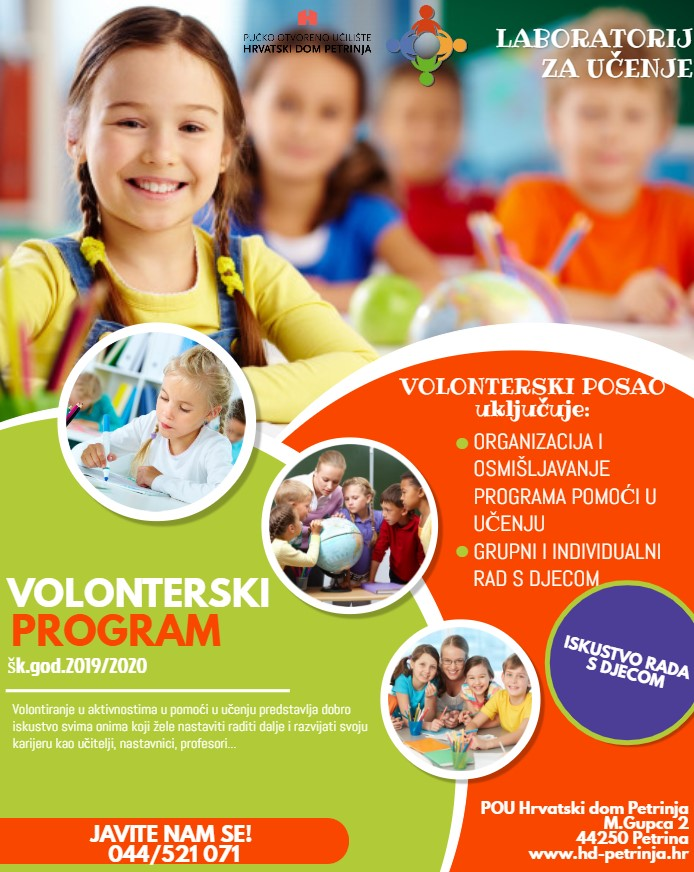 volonterski program Laboratorij za učenje